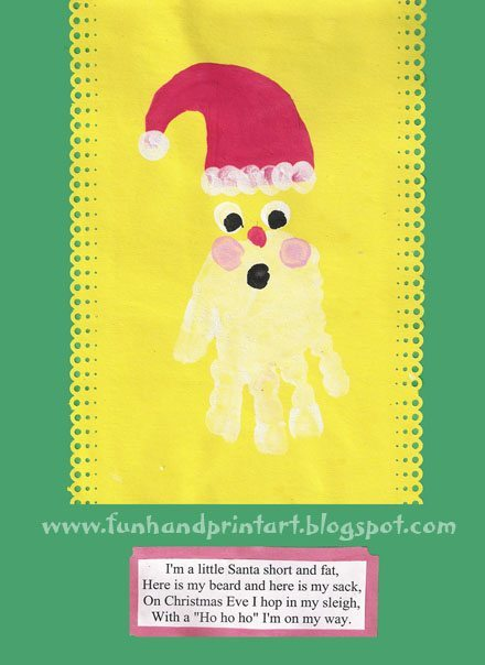 Handprint Santa Craft for Christmas