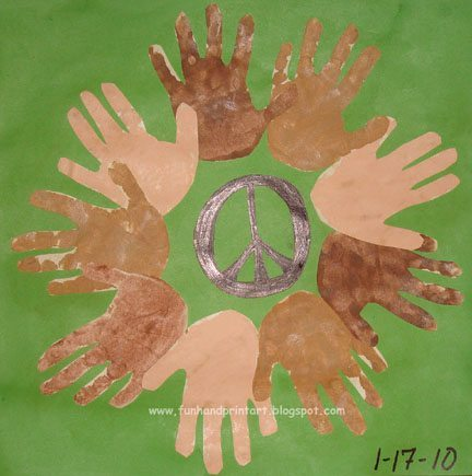 Handprint Unity Wreath