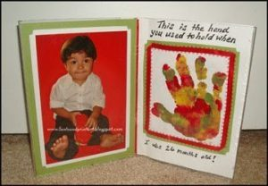 Handprint with Poem Picture Frame Keepsake