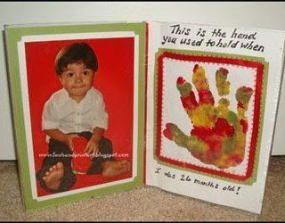 Handprint with Poem Picture Frame Keepsake