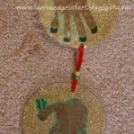 Handprint Reindeer Door Decoration & Keepsake