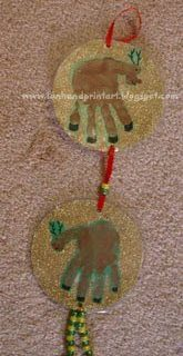 Handprint Reindeer Door Decoration & Keepsake