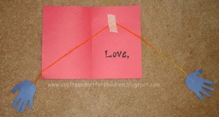 Hugging Hands Card - Paper Craft