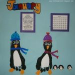 Footprint Penguins for January- Handprint Calendar 2