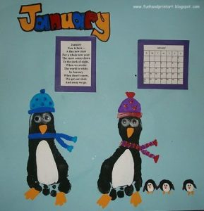 Penguin Footprint Craft for Winter