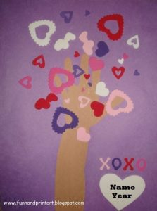Hand Shaped Tree of Love Craft For Valentine's Day