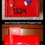 Valentine's Day Kid's Mailbox – Thumbprint Love Birds