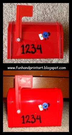 DIY Valentine's Day Mailbox With Thumbprint Bluebirds