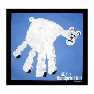 Handprint Polar Bear Craft for Winter