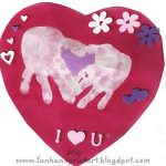 Heart-Shaped Handprint Valentine