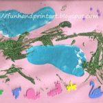 Spring Footprint Craft {Open-ended toddler art activity}