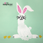 Footprint Bunny for April's Handprint Calendar 2
