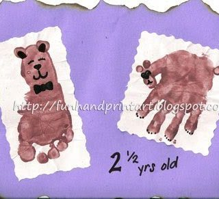 Handprint Bear and Footprint Teddybear