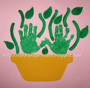 handprint flowers for mother's day