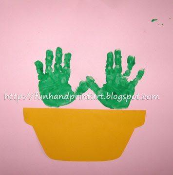 handprint flowers in a pot