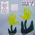 Handprint Tulips for May – Handprint Calendar 2