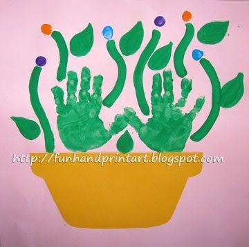 Mother's Day Handprint Flower Pot Craft