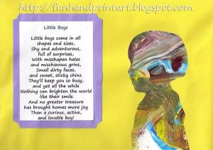 Little Boys Poem & Silhouette Painting Craft