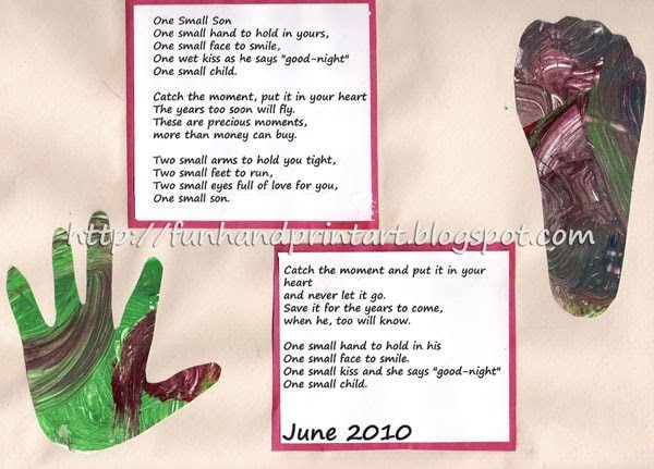 Handprint & Footprint Keepsake with a cute Poem