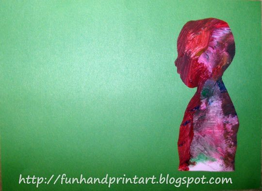 Painted Silhouette Craft for Kids