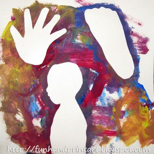 Kids Silhouette Painting Keepsake
