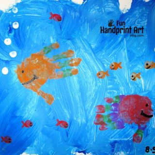 Simple Handprint Fish Canvas Art Keepsake