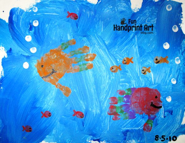 Simple Handprint Fish Canvas Art Keepsake & Decor Idea