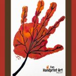 Handprint Leaf for September – Handprint Calendar