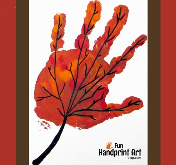 Handprint Thanksgiving Crafts For Toddlers