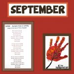 Handprint Calendar - September Leaf Art
