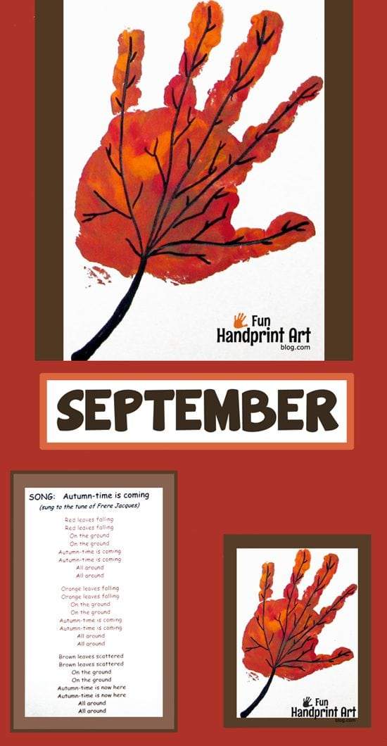 September Handprint Calendar Craft