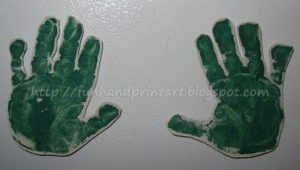 DIY Handprint Magnets