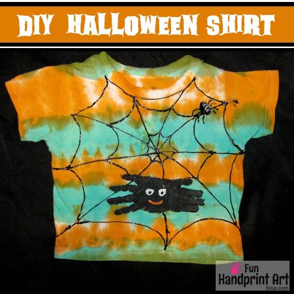 DIY Handprint Halloween Shirt for Kids
