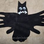 Handprint & Footprint Bat Craft