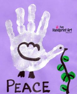 Handprint Dove - Peace Day Craft | Martin Luther King Jr