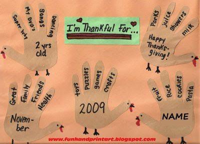 Thankful Crafts For Thanksgiving Thankful Turkey Hands Craft