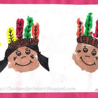 Handprint Native Americans