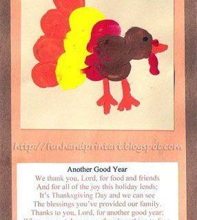 Thumbprint Turkey Prayer Cards