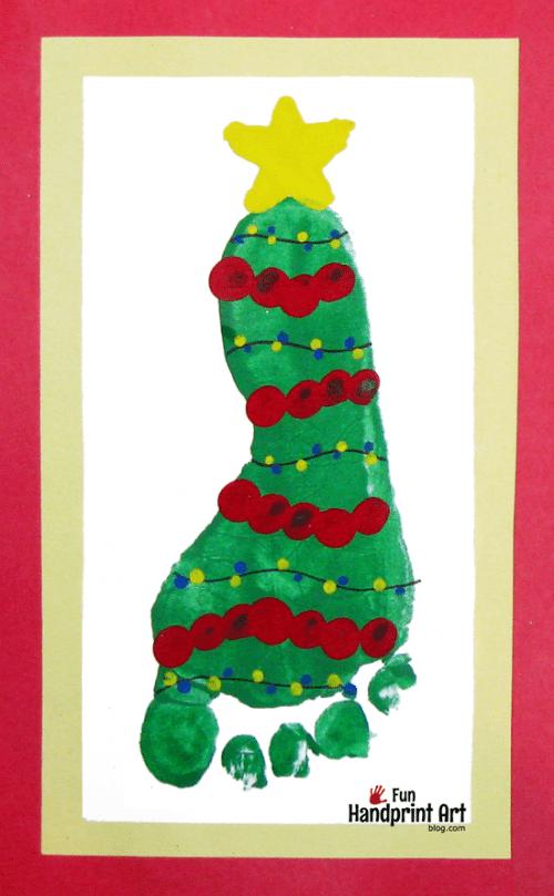 Footprint Christmas Tree Keepsake