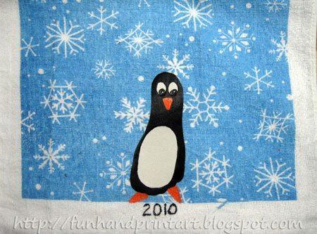 Go Back > Gallery For > Footprint Penguin Crafts