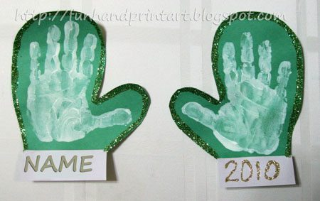 Handprint Mittens Craft