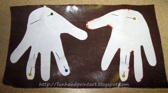 Reindeer Handprint Applique Craft Idea