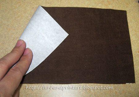 How to make an applique of a hand shape - kids keepsake shirt idea