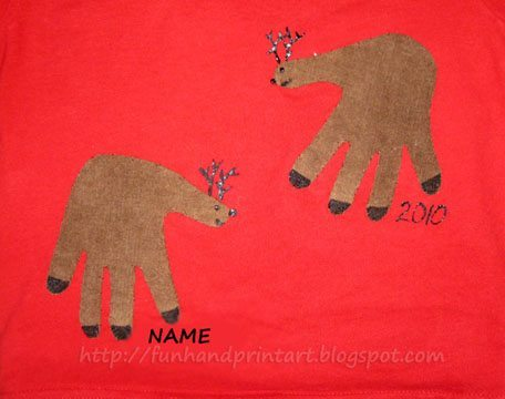 Handprint Reindeer Shirt Applique Tutorial