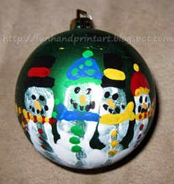 Handprint Snowman Ornament with Poem