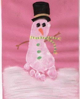 Winter Handprint & Footprint Art