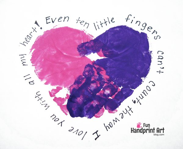 Mother's Day Handprint Art - 10 Little Fingers Poem