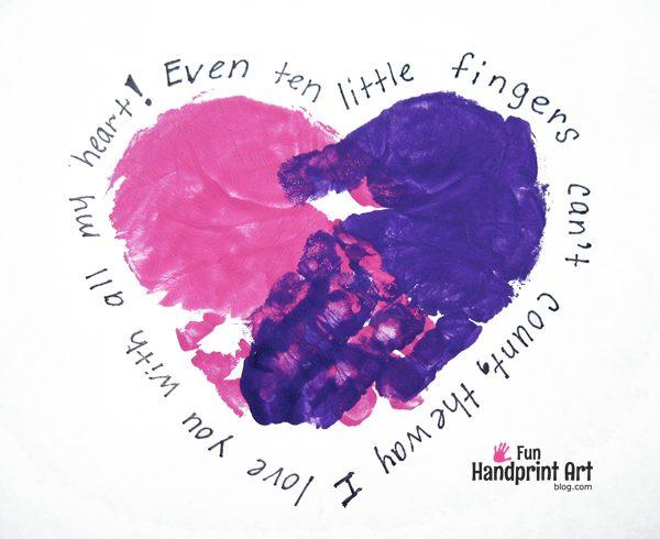 Mother's Day Handprint Art - 10 Little Fingers Poem