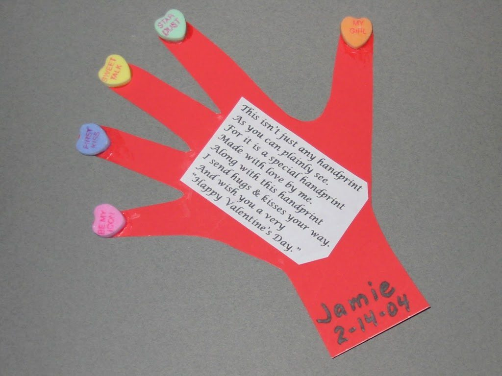 Handprint & Thumbprint Valentines Ideas - Fun Handprint Art