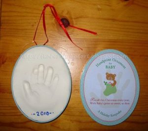 clay handprint impression ornament kit